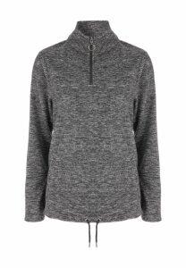 Womens Grey Marl Fleece Jumper