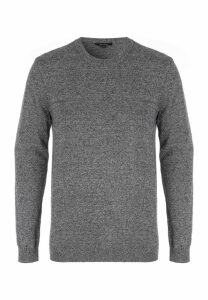 Mens Grey Texture Jumper