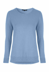 Womens Blue Crew Neck Jumper