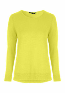 Womens Lime Yellow Crew Neck Jumper