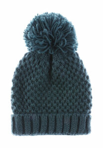 Womens Teal Pom Hat