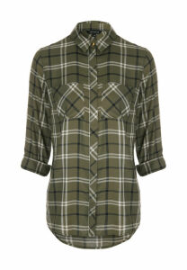 Womens Khaki Check Shirt