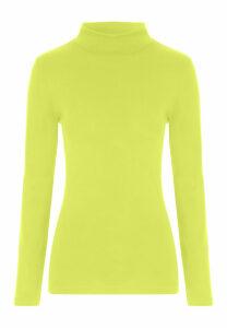 Womens Lime Green Roll Neck Jumper
