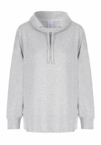 Womens Grey Soft Touch Pyjama Top