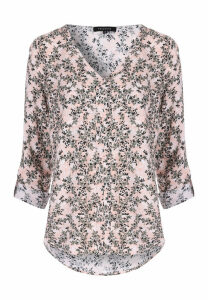 Womens Pink Floral Blouse