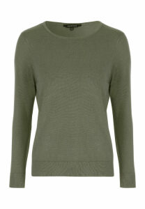 Womens Sage Crew Neck Jumper