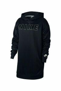 Womens Nike Air Hoody Dress -  Black