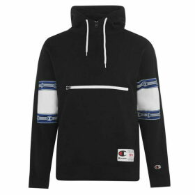 Champion Print Cut Sleeve Hooded Sweatshirt