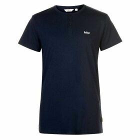 Lee Cooper Essentials 3 Button T Shirt Mens