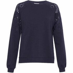 Great Plains Winter Embroidered Crew Neck Top
