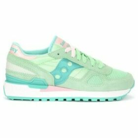 Saucony  Shadow sneaker in suede and mint color mesh  women's Shoes (Trainers) in Green