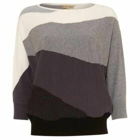Phase Eight Lorrie landscape intarsia knit jumper