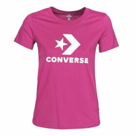 Converse  Star Chevron Tee  women's T shirt in Pink