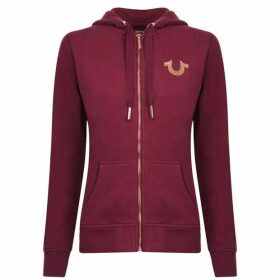 True Religion Jersey Zip Hooded Sweatshirt