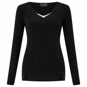 James Lakeland V Neck Diamante Jumper