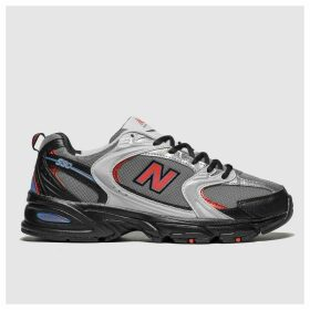 New Balance Black & Red 530 Trainers