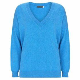 Mint Velvet Blue Marl V-Neck Boxy Knit