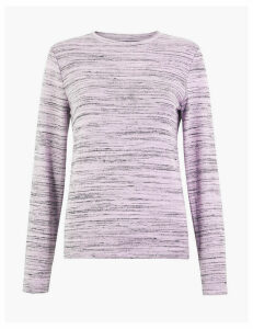 M&S Collection Soft Touch Striped Long Sleeve Top