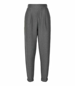 Tall Light Grey Pinstripe Trousers New Look