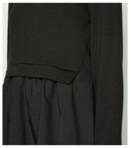 Black Fine Knit 2 in 1 Jumper New Look
