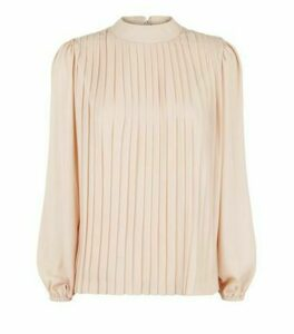 Pale Pink Pleated Tie Back Top New Look