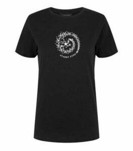 Black Starry Eyed Slogan T-Shirt New Look