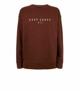 Rust East Coast NYC Slogan Sweatshirt New Look