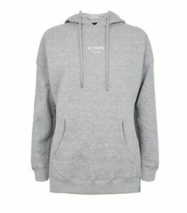 Grey Je T'Aime Paris Slogan Hoodie New Look