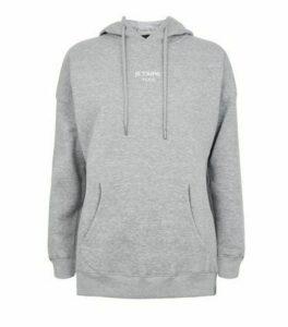 Grey Je T'Aime Paris Slogan Hoodie New Look