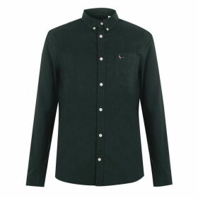 Jack Wills Wadsworth Plain Oxford Shirt - Dark Green
