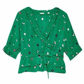 Jack Wills Bethy Wrap Top - Green