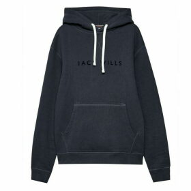 Jack Wills Elmsfield Flocked Hoodie - Navy