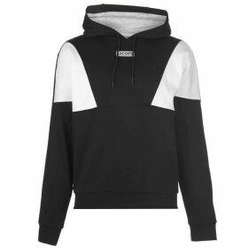Lacoste OTH Diamond Panel Hoodie - Black/White