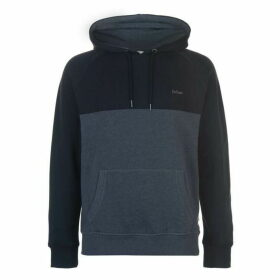 Lee Cooper Cut and Sew OTH Hoody Mens -  Charcoal/Blk