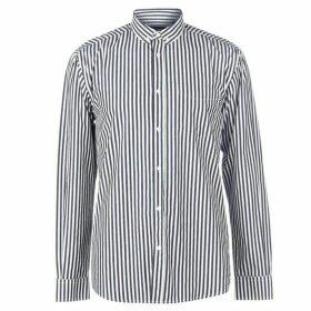 Pierre Cardin Bold Stripe Long Sleeve Shirt Mens - Navy/White