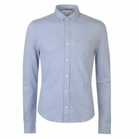 Original Penguin Original Long Sleeve Knitted Shirt - Amparo Blue