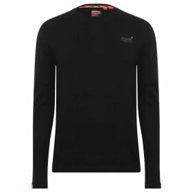 Superdry Superdry Long Sleeve Basic T Shirt - Black 02A