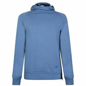 CP COMPANY Goggle Hooded Zip Vent Sweatshirt - Blue 874