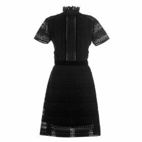Perseverance Cable Lace Mini Dress - Black