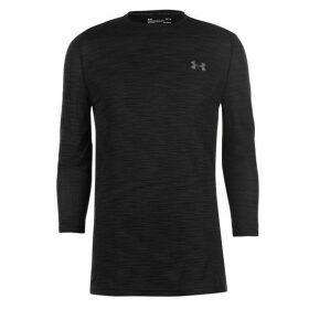 Under Armour Threadborne Seamless LS Shirt Mens - Black
