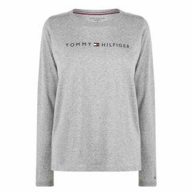 Tommy Bodywear Long Sleeve Logo T Shirt - Grey Heather