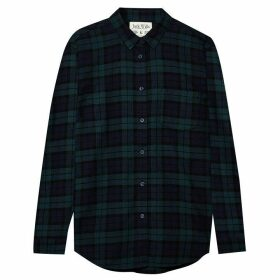 Jack Wills Guilden Checked Boyfriend Shirt - Navy