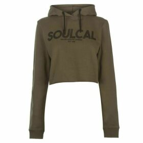 SoulCal Deluxe Cropped Hoodie - Khaki
