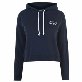 Jack Wills Belmonthood Cropped Hoodie - Navy