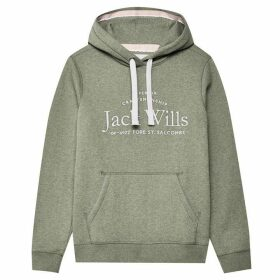 Jack Wills Hunston Embroidered Hoodie Ladies - Green