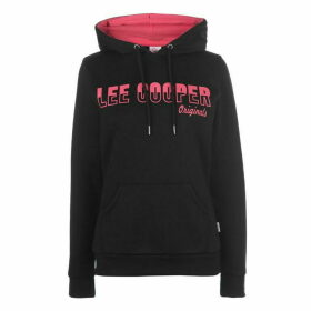 Lee Cooper Long Line OTH Hoodie Ladies - Black