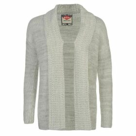 Lee Cooper Fleck Cardigan Ladies - Ecru