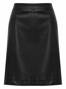 Women's Ladies faux leather a-line skirt