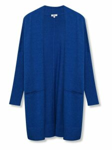 Women's Khost Clothing ladies cobalt blue long cardigan with long sleeves open front pockets