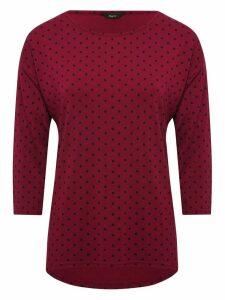 Women's Ladies three quarter sleeve polka dot top